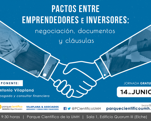 Conference: Negotiation, documents and clauses in agreements between entrepreneurs and investors (in Spanish)